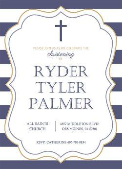 Free Christening invitation printable