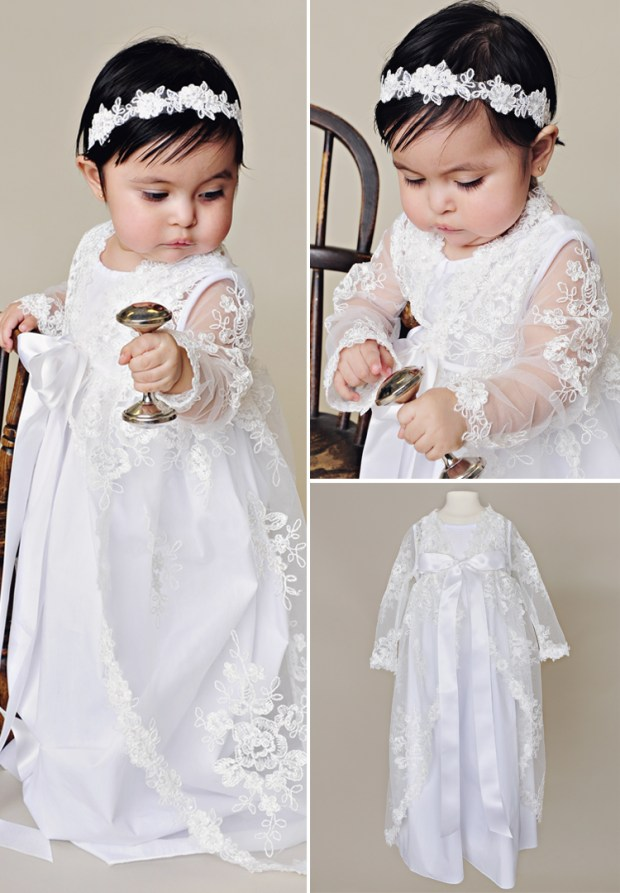 Sadie Lace Christening Jacket for Baby
