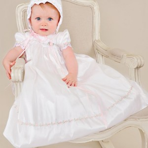 Tess Silk Christening Dress