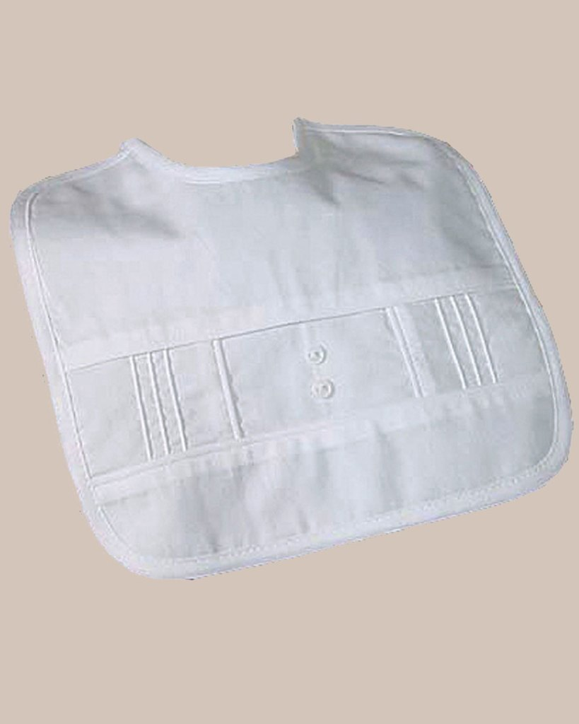 Boys Cotton Pintucked Bib