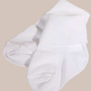 Unisex White Cotton Simple Classic Anklet Socks
