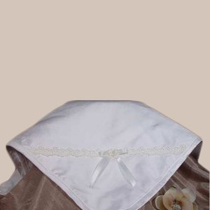Silk Dupioni Blanket with Venise Trim and Bow