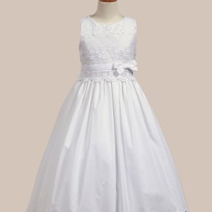 Embroidered Cotton Bodice with Cotton Skirt
