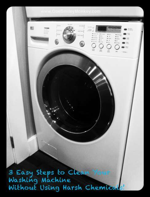 How to Clean your Washing Machine Without Using Harsh Cleaners! {Cleaning Tips}