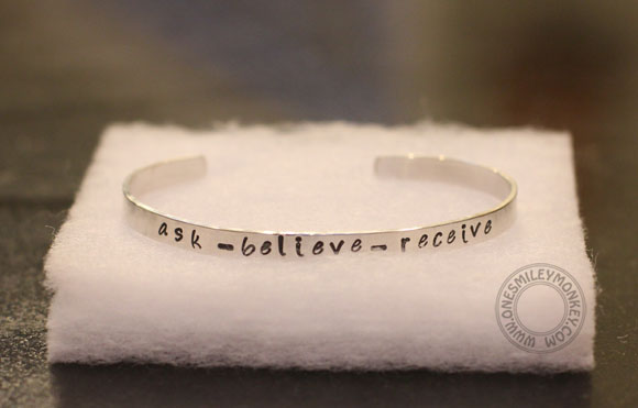 Simpli Stamped Bracelet (ask-believe-receive)