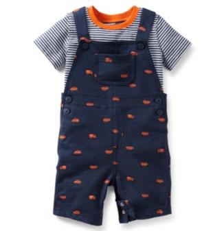 Carter's® Boy's 2-Piece Navy Shortall Set