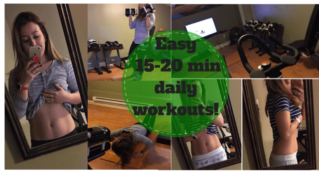 My Weekly Workout Plan {Just 15-20 Easy Minutes A Day!}