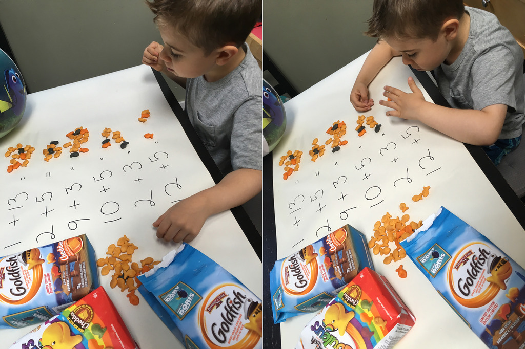 math practice with crackers