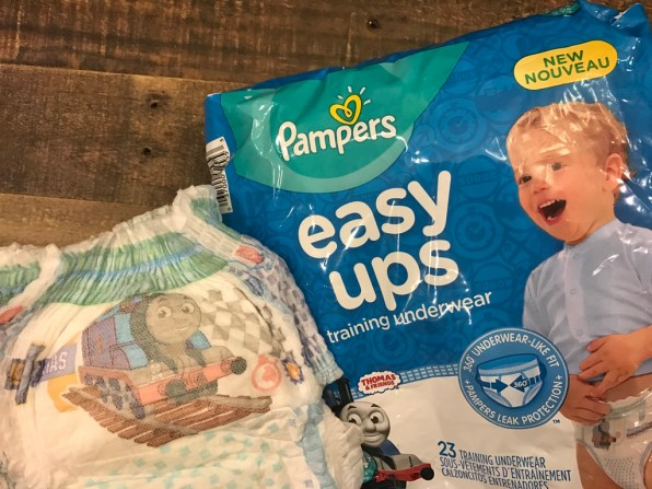 Potty Training Made Easy with Pampers Easy Ups Training Underwear!