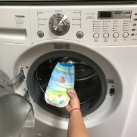 Disposable Diaper in The Washer, How to Clean The Mess!