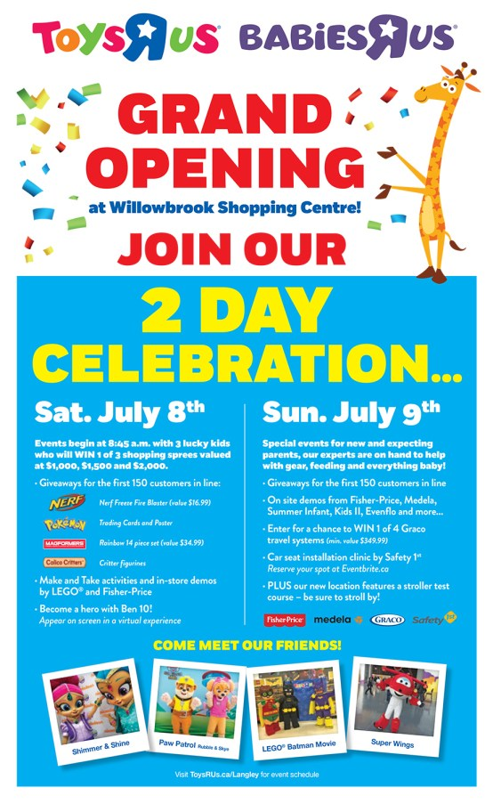 """Langley Toys""""R""""Us and Babies""""R""""Us Grand Opening"""
