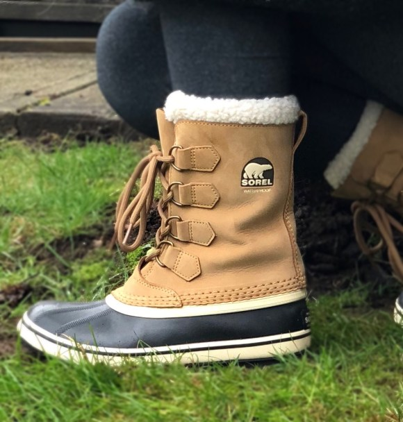 Wearing Sorel Winter Boots in Vancouver