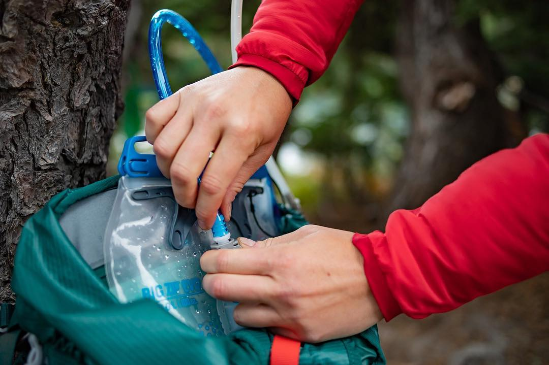 Gear Hack:  Refill Your Backpack Hydration Reservoir from Water Bottles or Filters
