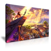 Disney The Lion King Cartoon Movie Kids Canvas Wall Art ...