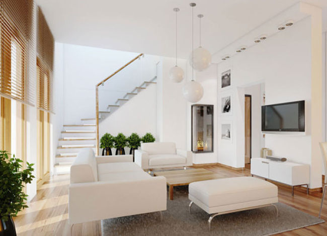 Contemporar-Whitr-Lving-Room-Plants-with-LCD-TV_opt
