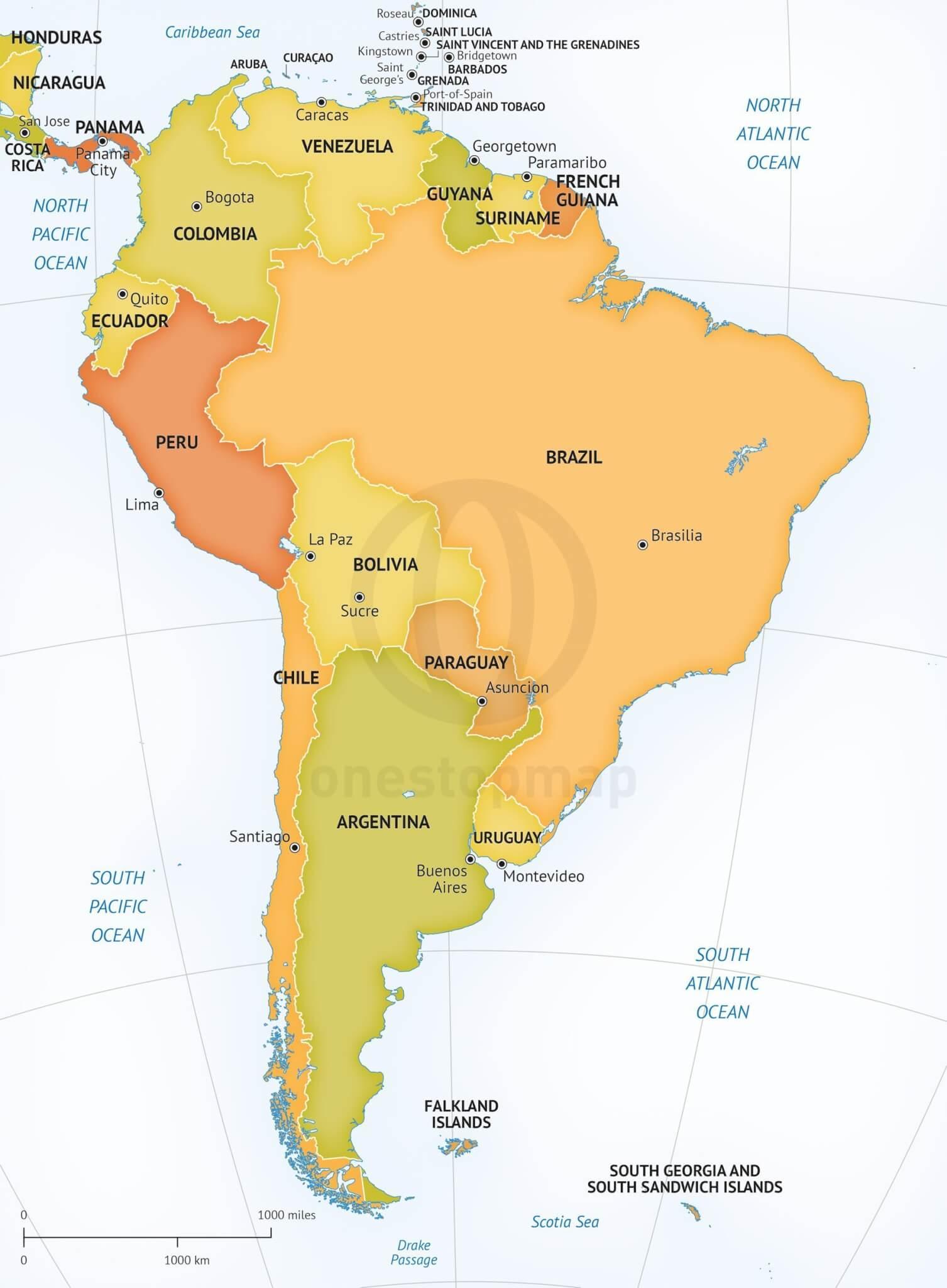 Brazil Physical Map Worksheet