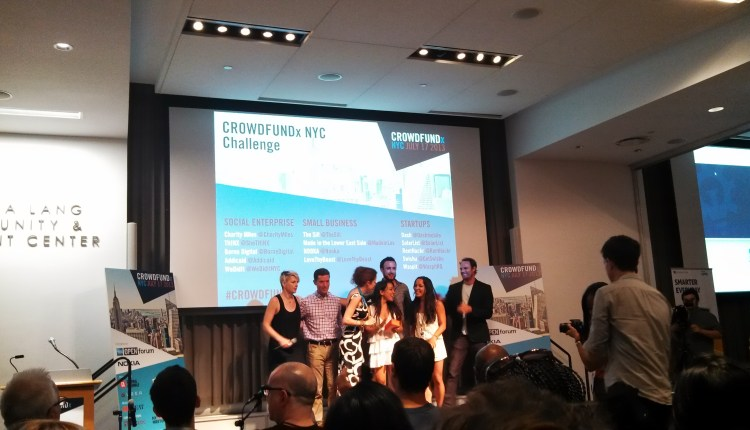 THINX Challenge winners accepting Nokia phones