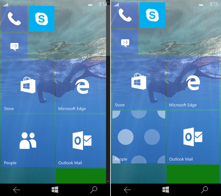 Leaked Windows 10 Mobile Build 10158 Adds Transparent Icons, Camera