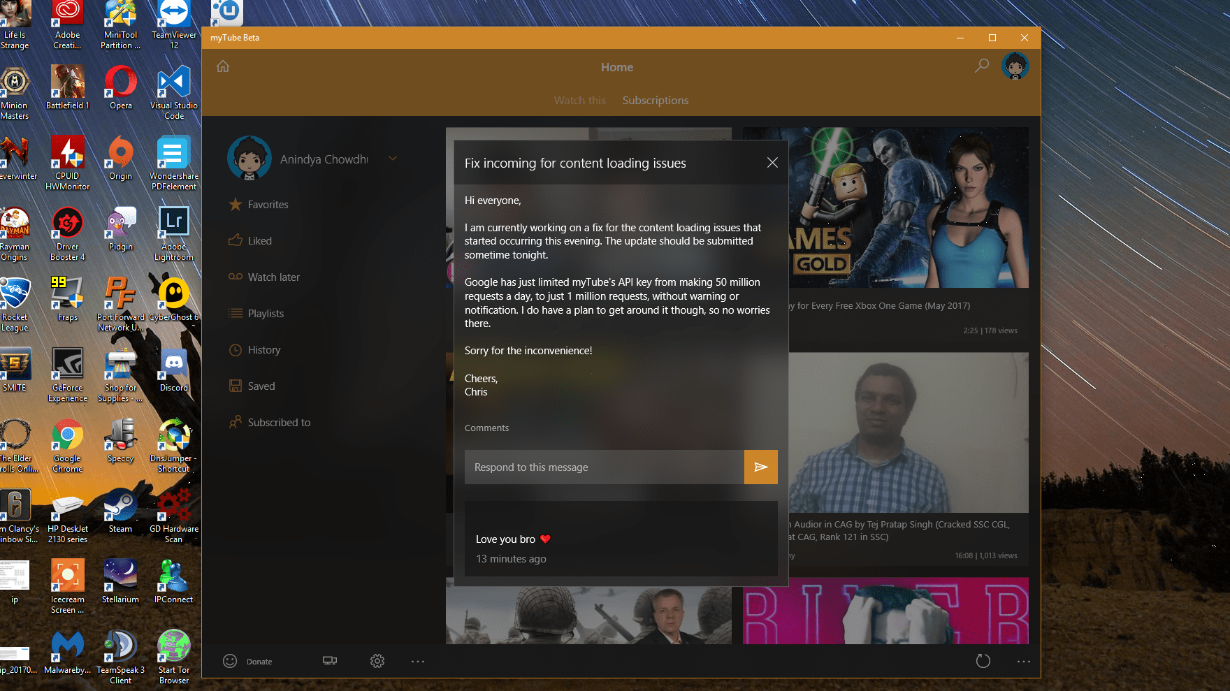 Mytube Beta gets NEON blur which works exceptionally good - OneTechStop