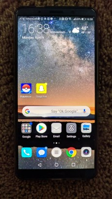 Huawei Mate 10 Pro with Screen on