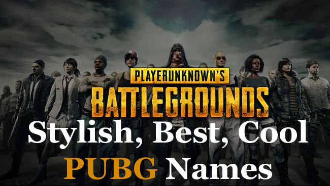 Stylish PUBG Names Ideas : Best, Cool Names for ID, Clan