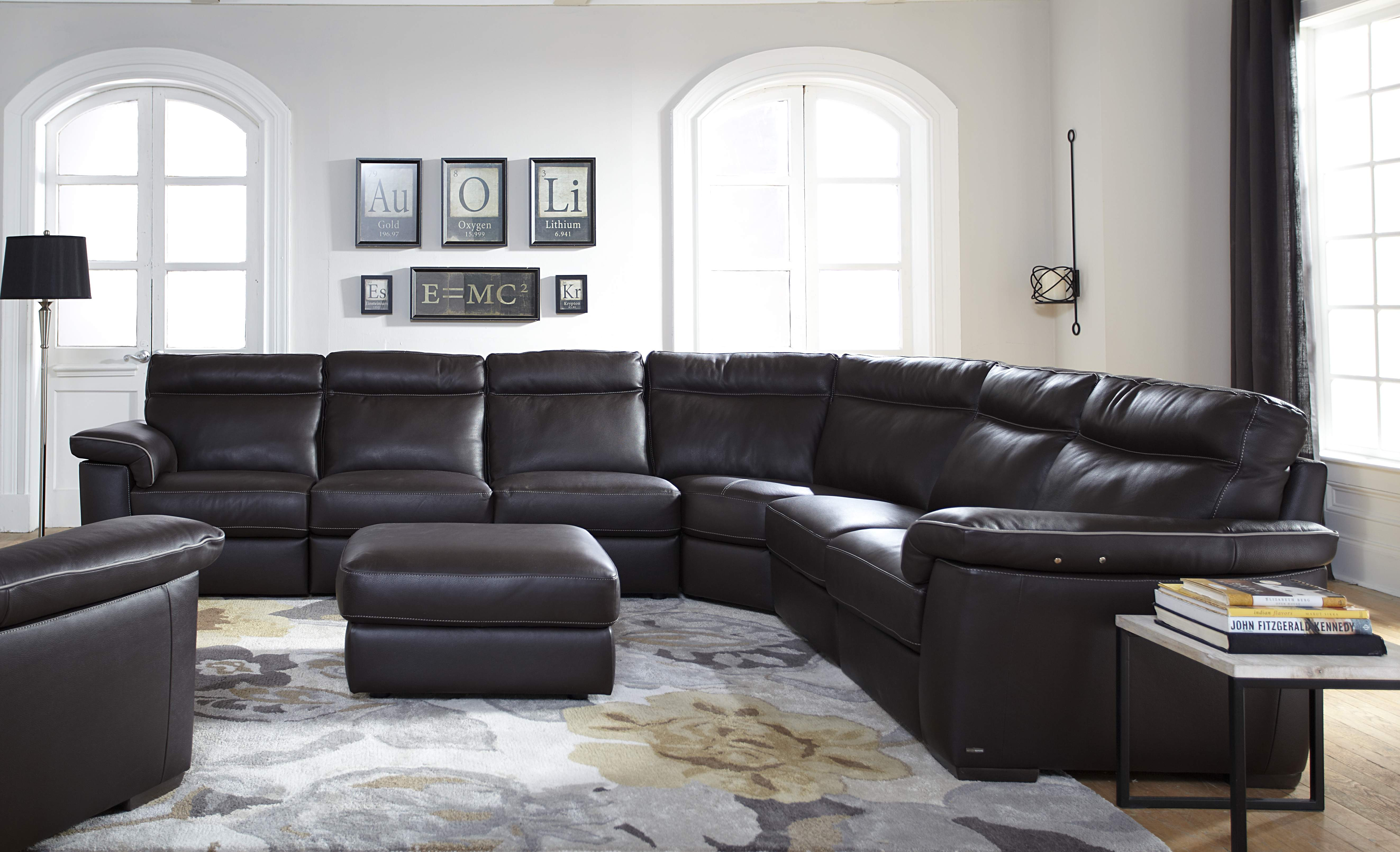 parker leather sofa reviews solid wood set in bangalore natuzzi editions brivido b757 sectional | one ten home ...