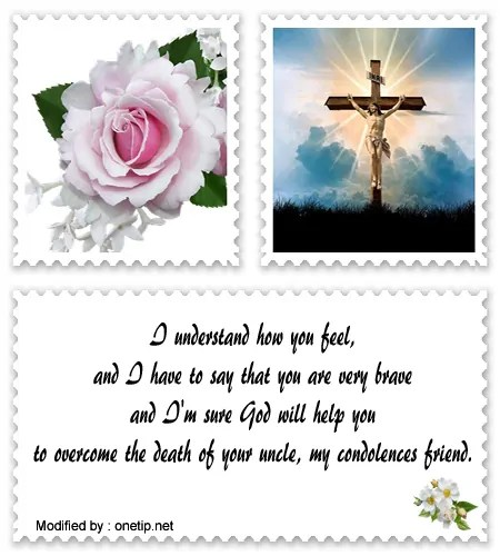 christian condolence messages examples