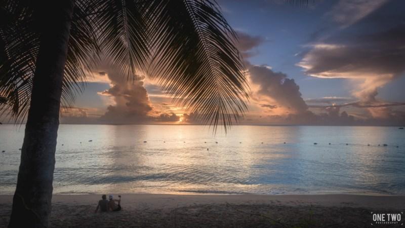 carribean sunset beach