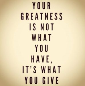 quotes, greatness, give