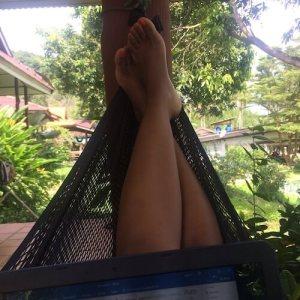 Koh Yao Noi, hammock, thailand, laptop, digital nomad, location indie