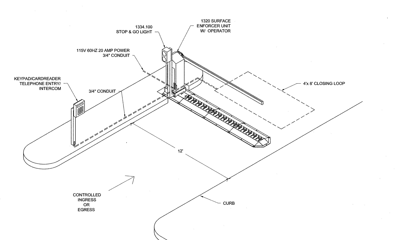 Drop Arm Barrier Dwg Cad: Sound blocking materials