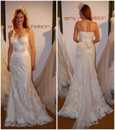 Ivory wedding dress with mermaid lace, silk organze roses and feathers