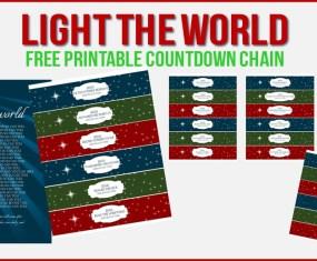 #lighttheworld printable countdown chain