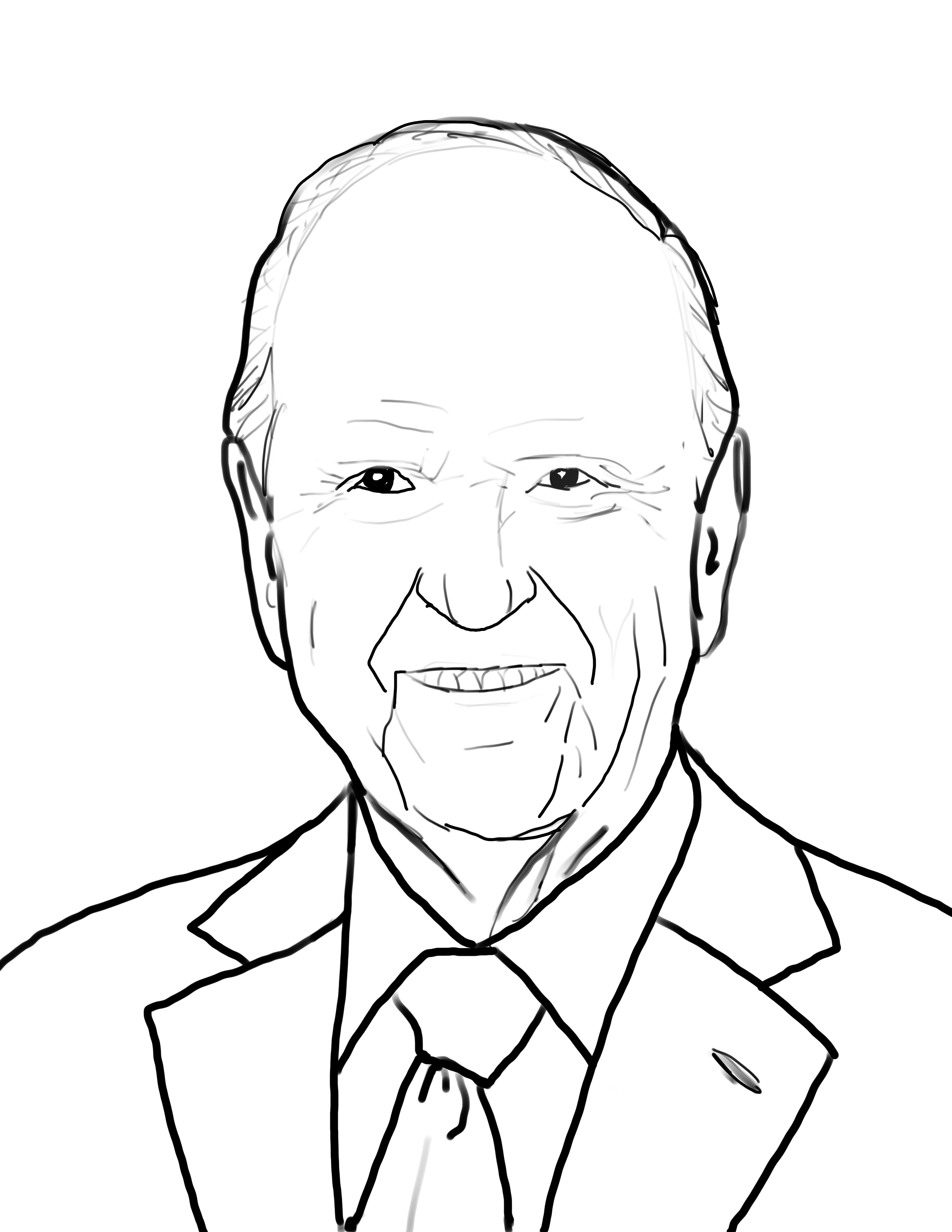 President Russell M Nelson Coloring page