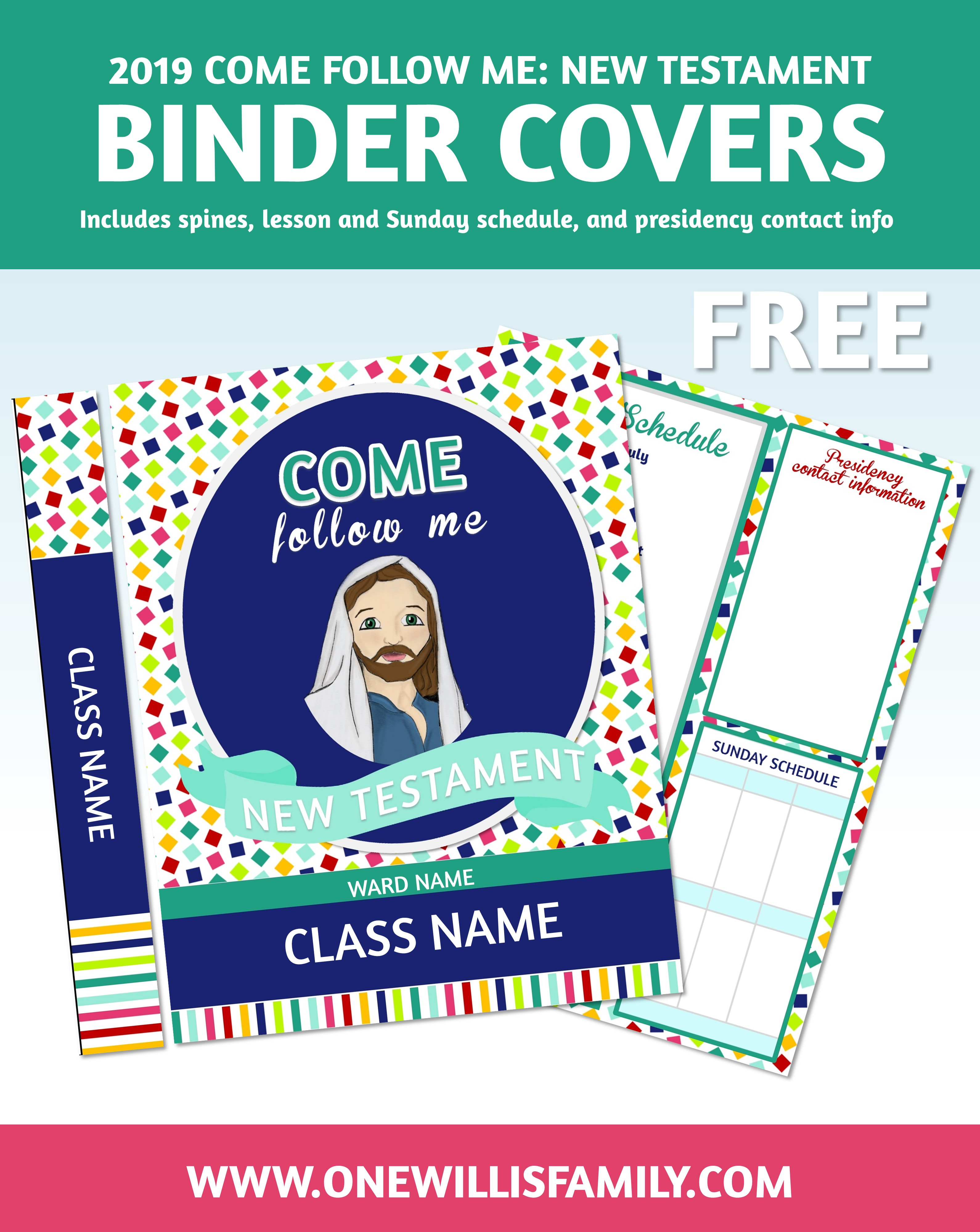 2019 PRIMARY BINDER COVERS - One Willis Family