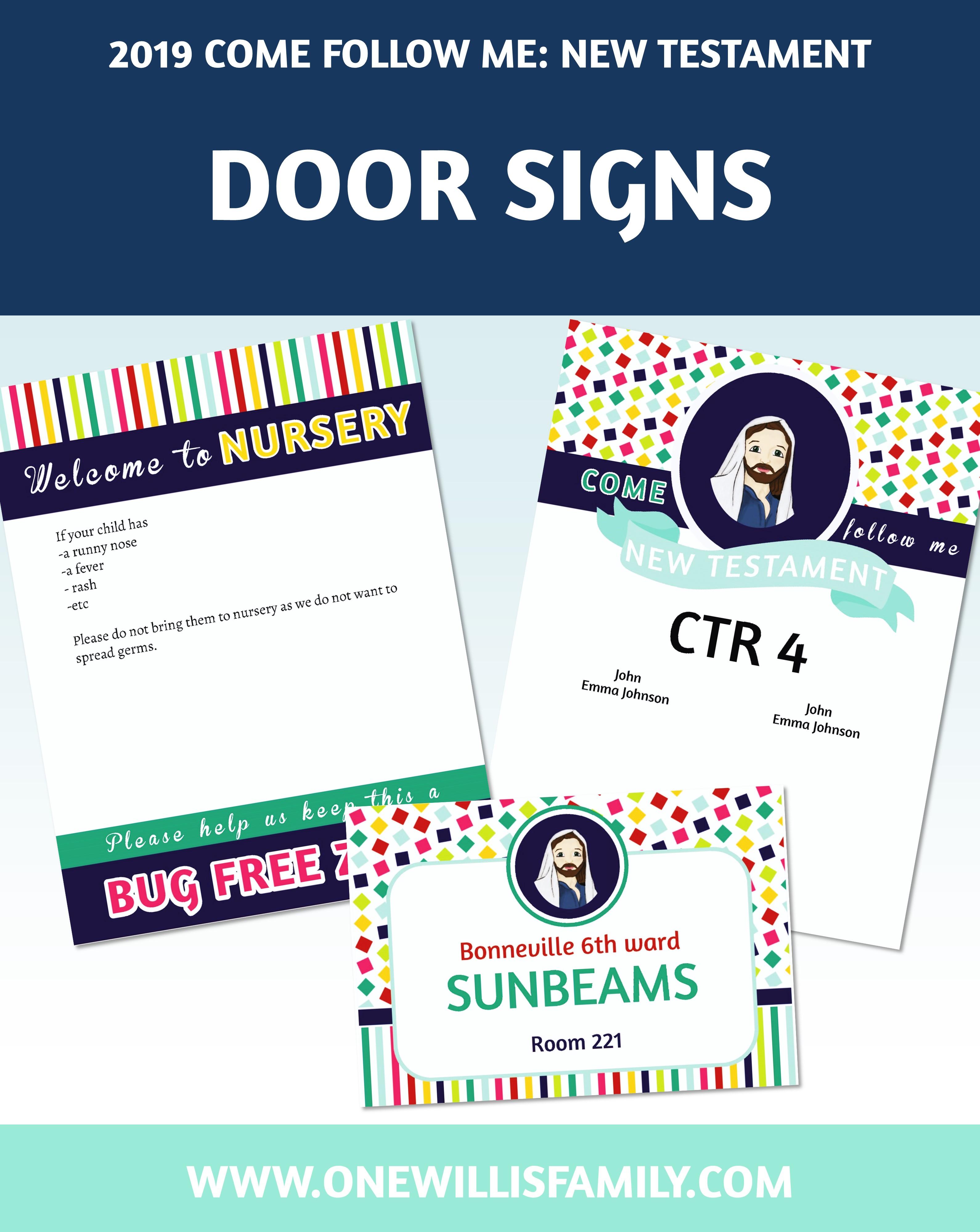 picture regarding Free Printable Door Signs named 2019 Standard Doorway Indicators with Nursery Signal