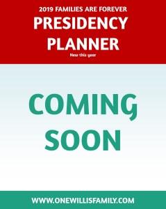 2019 Primary Theme presidency planner