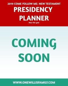 2019 Primary Presidency Planner