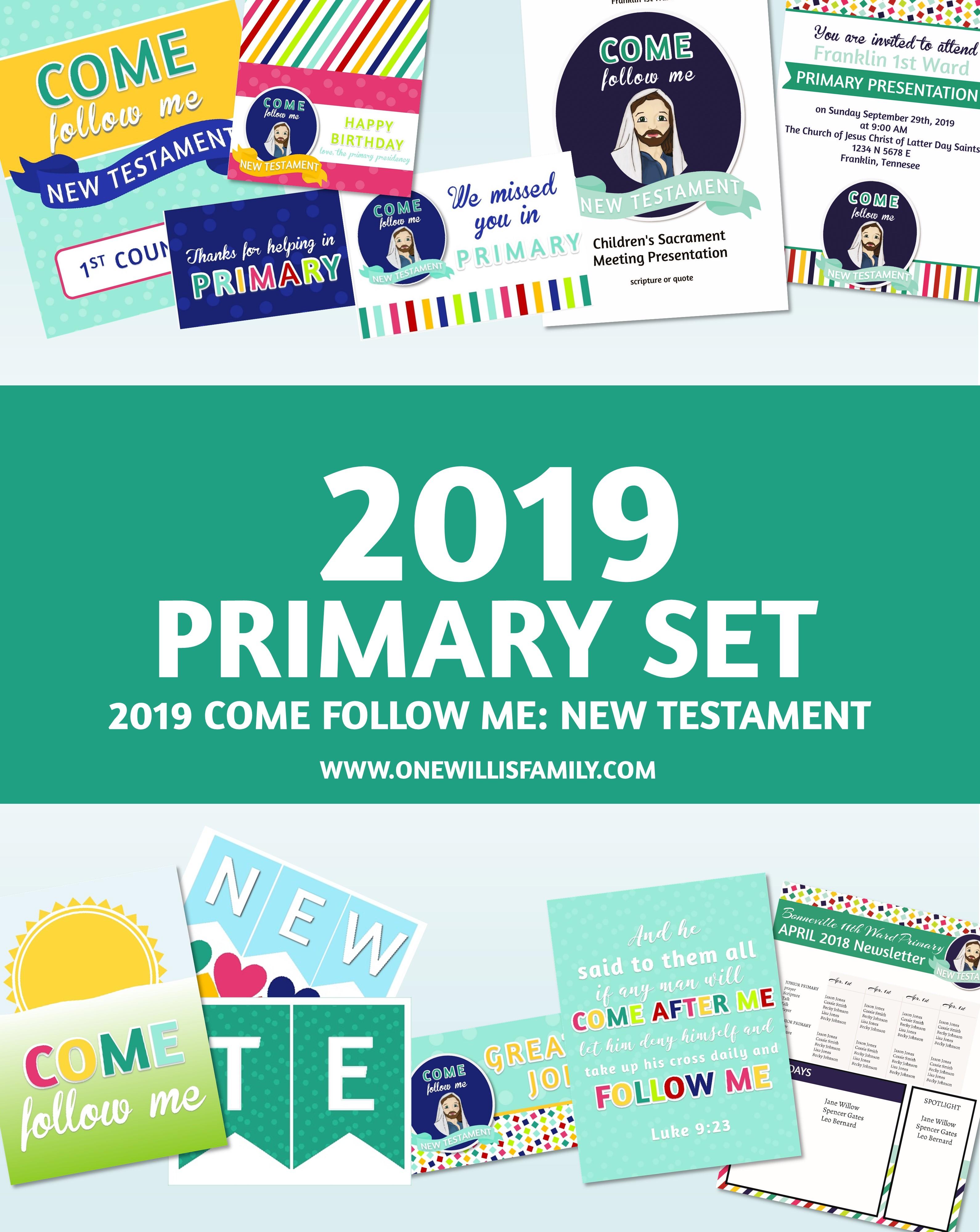 2019 Primary Theme Complete Set