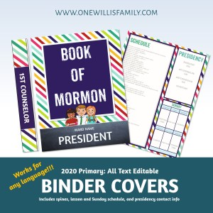 LDS Primary Binder Covers