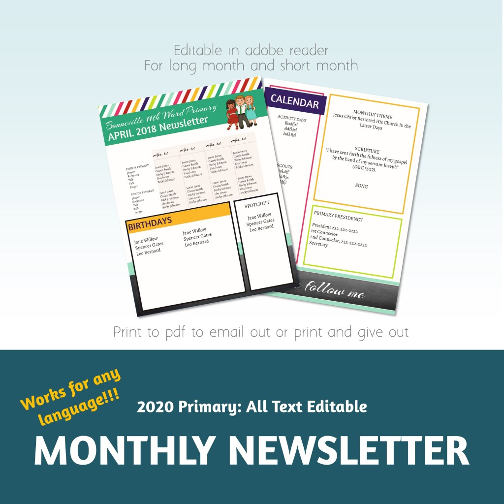 Primary newsletter