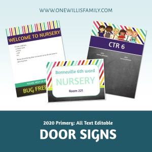 2020 Primary Door signs