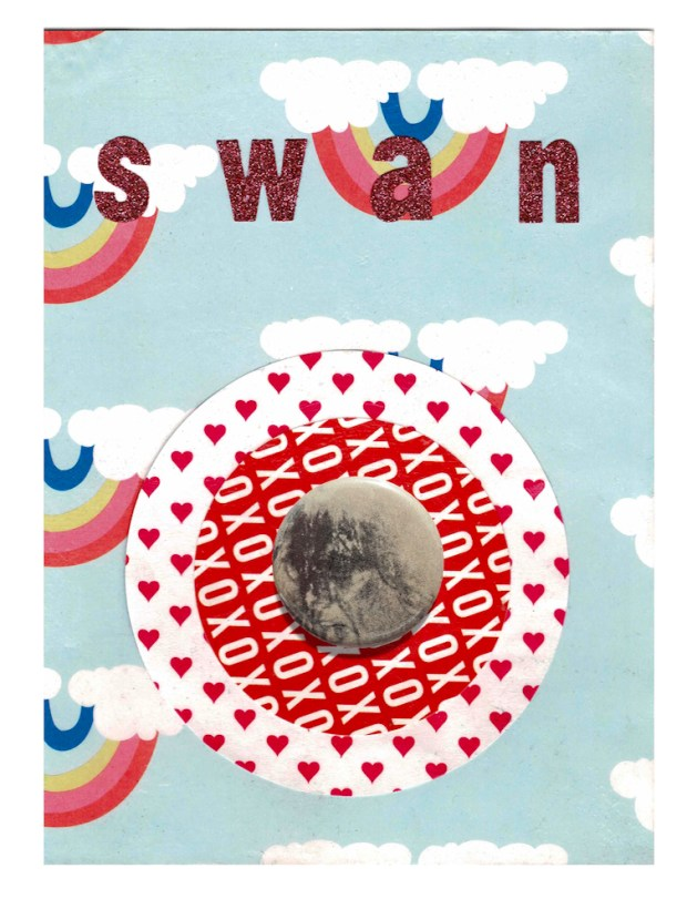 SWAN (Button Collage)