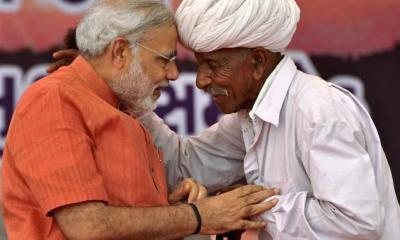 Narendra Modi with Farmer