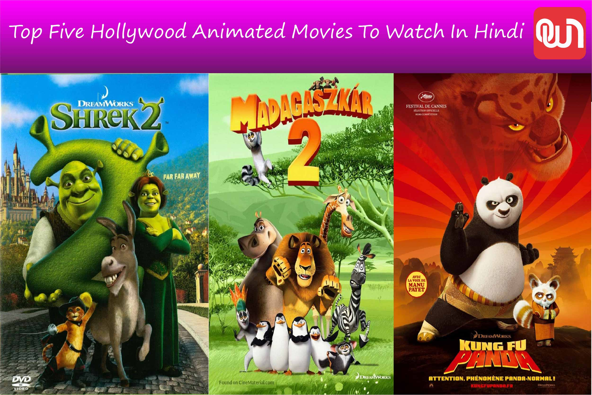 top five hollywood animated