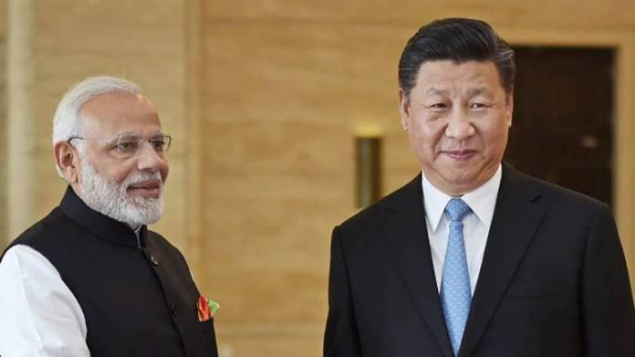 Xi Jingping and Narendra Modi
