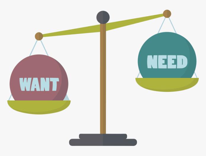 needs vs desires