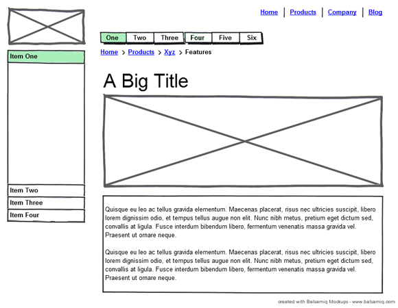 website wireframe diagram example 2002 kia spectra stereo wiring the importance of wireframes in web design and 9 tools to create wireframesonextrapixel – ...