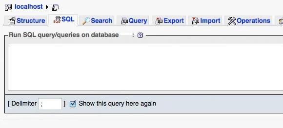 SQL Query Box