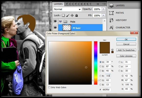 image-21 Working with Photoshop's Blending Modes to Color a Black and White Photo